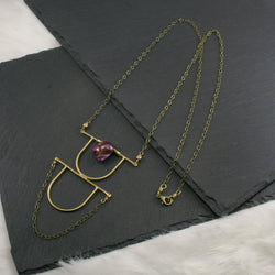 Intuition Necklace - Fuchsia