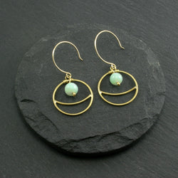Lunar Earrings - Amazonite