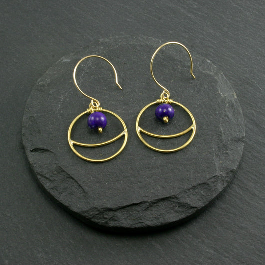 Lunar Earrings - Lapis Lazuli