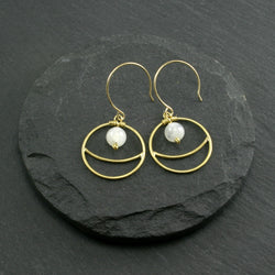 Lunar Earrings - Moonstone