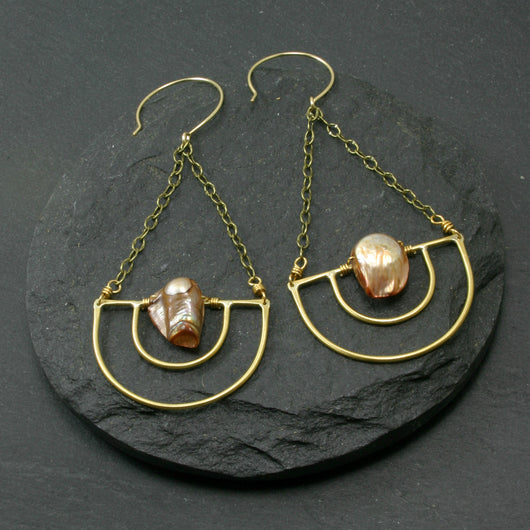 Serenity Earrings - Brown