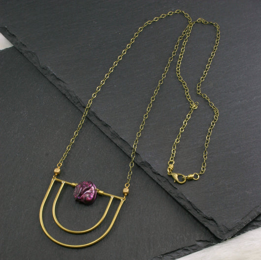 Serenity Necklace - Fuchsia