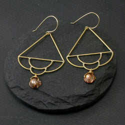 Siren Earrings - Brown