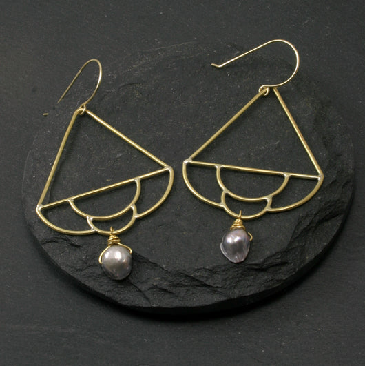 Siren Earrings - Grey