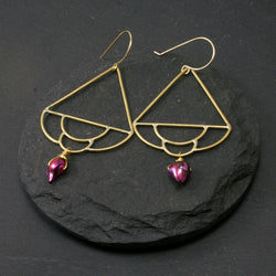 Siren Earrings - Fuchsia