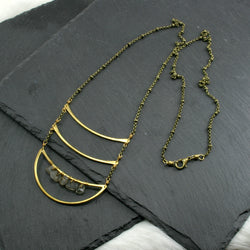 Crescent Stellar Necklace