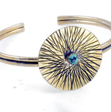 Sunburst Medallion Cuff
