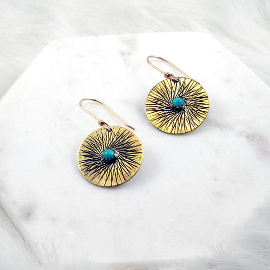 Sunburst Medallion Earrings