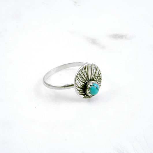 Sunburst Mini Ring - Circle