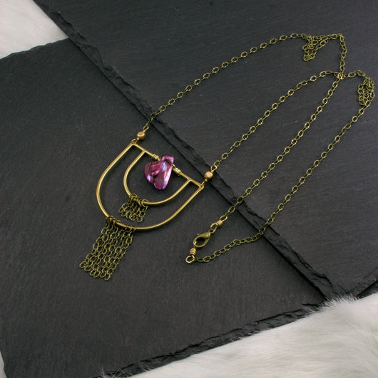 Transformation Necklace - Fuchsia