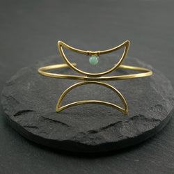 Twin Moon Cuff - Amazonite