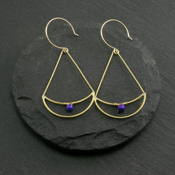 Twin Moon Earrings - Lapis Lazuli