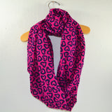 Fuchsia Heart Infinity Scarf- Dolls, Girls and Mama Sizing- 50% off