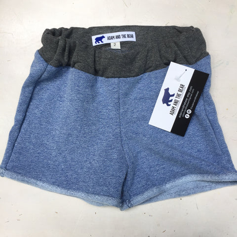 Above the Knee Girls Blue French Terry Shorts