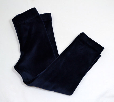 Stretch Velvet Leggings- Deep Navy Blue