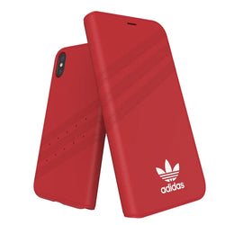 Adidas Originals Booklet Case suits iPhone X/Xs - Red/White