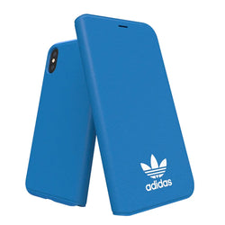 Adidas Originals Basic Logo Booklet Case suits iPhone X/Xs - Blue/White