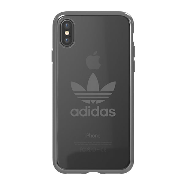 Adidas Originals Clear Case suits iPhone X - Gunmetal Logo