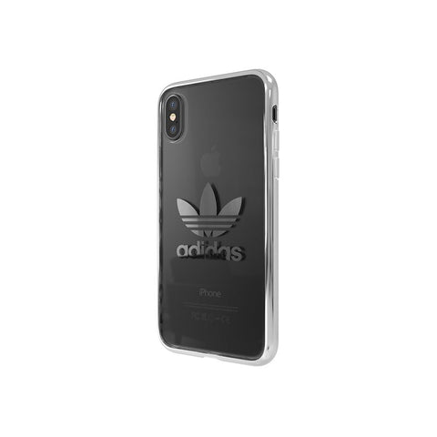 Adidas Originals Clear Case suits iPhone X - Silver Logo