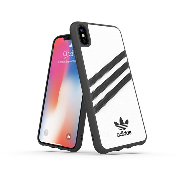 "Adidas Originals Classic Moulded Case suits iPhone Xs Max (6.5"") - White/Black"