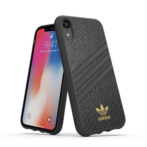 "Adidas Originals Suede Moulded Case suits iPhone XR (6.1"") - Black"