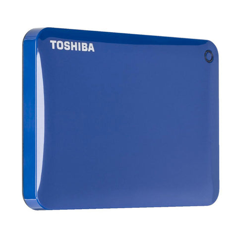 "Toshiba HDD 2.5"" External USB3 2TB Canvio Connect II (Blue), 3 Year Warranty"