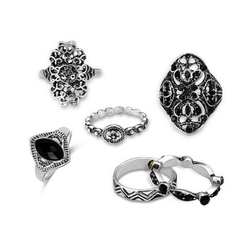Leaf Stone 6 Piece Ring Set - Shop4Mojo Products