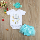 Adorable Baby Girls Dreamcatcher Romper Outfit