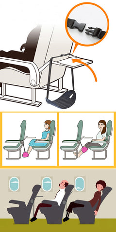Portable, Adjustable, Foot Rest / Foot Stand Hammock for Aeroplanes or Office