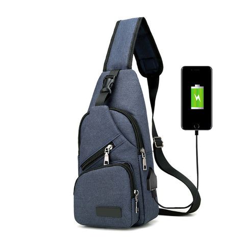 Anti-Theft, USB Charge, Waterproof, Men's Crossbody Bag