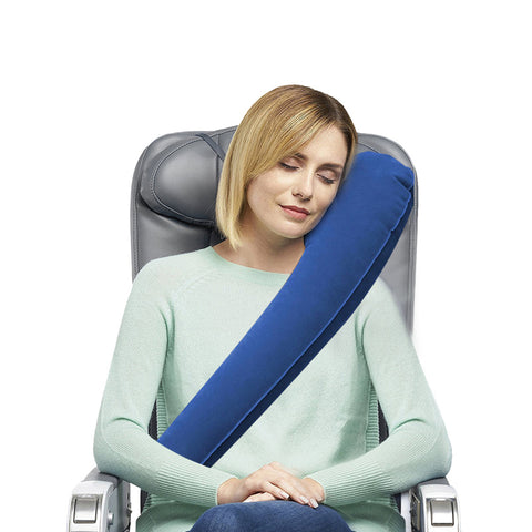Inflatable Aeroplane / Vehicle Travel Pillow for Neck and Head Rest or Support