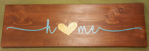 Home ~ Hand-Painted Wood Sign
