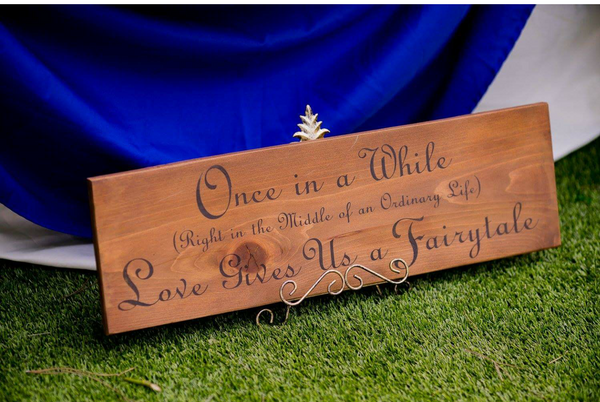 Disney Inspired  ~ Once in a While ~ Hand-Painted Wood Sign