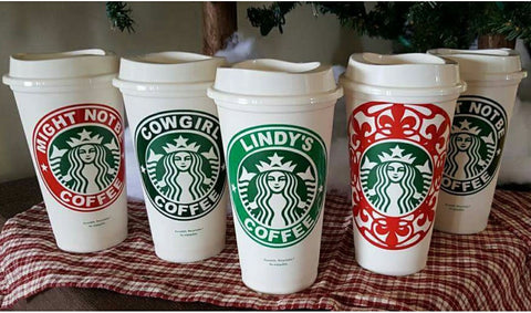 Custom Starbucks Cups - Any Name or Message