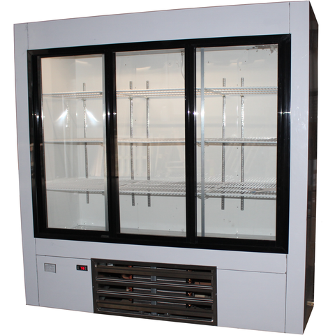 "Coolman 72"" Commercial Sliding Doors Reach-In Display Cooler - Coolman Refrigeration Inc."