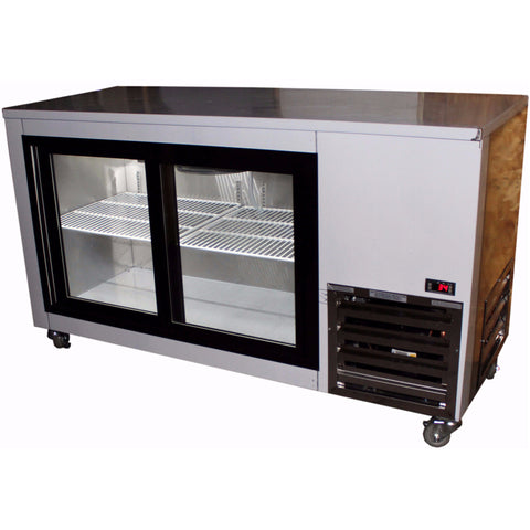Coolman 60'' Sliding Glass Doors Back Bar Display Cooler - Coolman Refrigeration Inc.