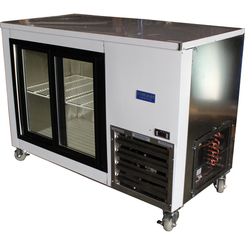 Coolman 48'' Sliding Glass Doors Back Bar Display Cooler - Coolman Refrigeration Inc.