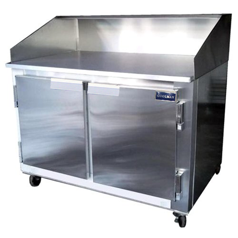 "Coolman 60"" Refrigerated 2 Door Dough Retarder Back Motor - Coolman Refrigeration Inc."