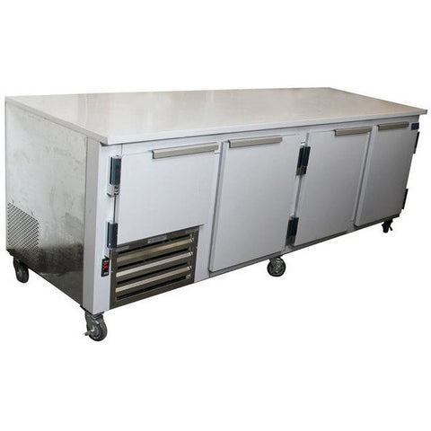 "Coolman 96"" Commercial 3-1/2 Door Low Boy Worktop Refrigerator - Coolman Refrigeration Inc."