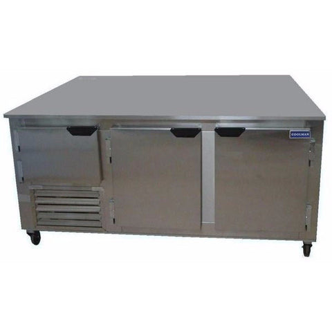 "Coolman 84"" Commercial 2 1/2-Door Low Boy Worktop Freezer - Coolman Refrigeration Inc."