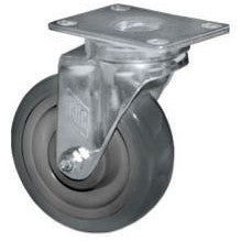 COMPONENT HARDWARE GROUP Caster, Medium Duty Swivel Plate, with Brake, 4 Wheel Diameter - Coolman Refrigeration Inc.