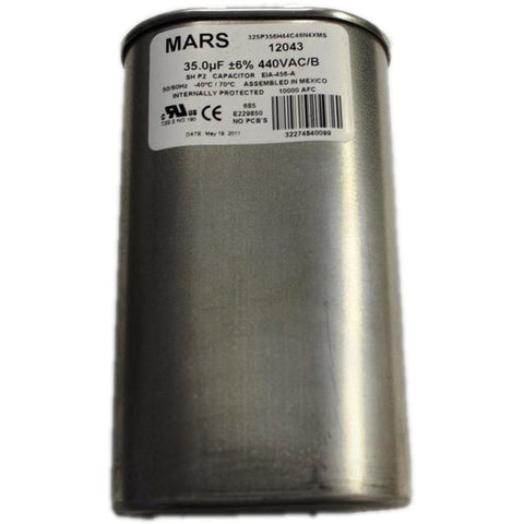 MARS 12043 MOTOR RUN CAPACITOR 35 uF +/- 6% 440VAC - Coolman Refrigeration Inc.
