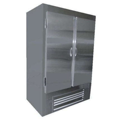 "Coolman 54"" Commercial Stainless Steel 2-Door Reach-In Cooler - Coolman Refrigeration Inc."