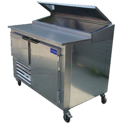 "Coolman 60"" Refrigerated Pizza Prep Unit Side Motor - Coolman Refrigeration Inc."