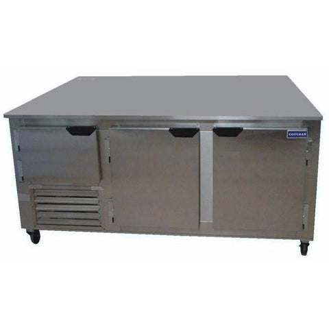 "Coolman 72"" Commercial 2 1/2-Door Low Boy Worktop Freezer - Coolman Refrigeration Inc."