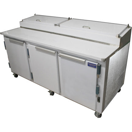 "Coolman 72"" Refrigerated Pizza Prep Table Back Motor - Coolman Refrigeration Inc."