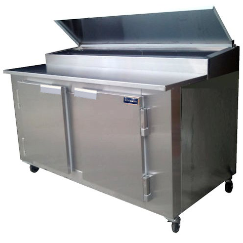 "Coolman 48"" Refrigerated Pizza Prep Table Back Motor - Coolman Refrigeration Inc."