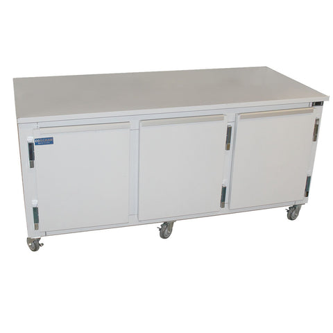 "Coolman 72"" Commercial 2-Door Low Boy Worktop Refrigerator - Coolman Refrigeration Inc."