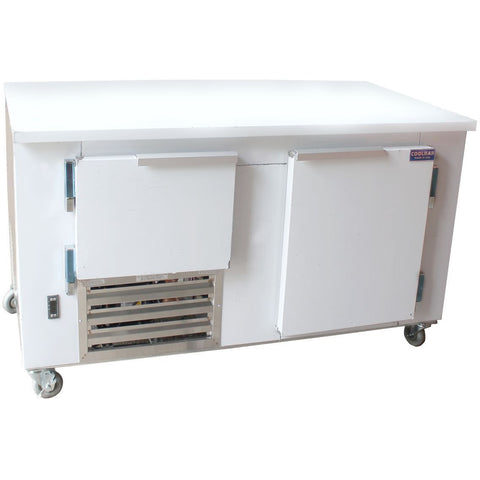 "Coolman 48"" Commercial 1-1/2 Door Low Boy Worktop Refrigerator - Coolman Refrigeration Inc."