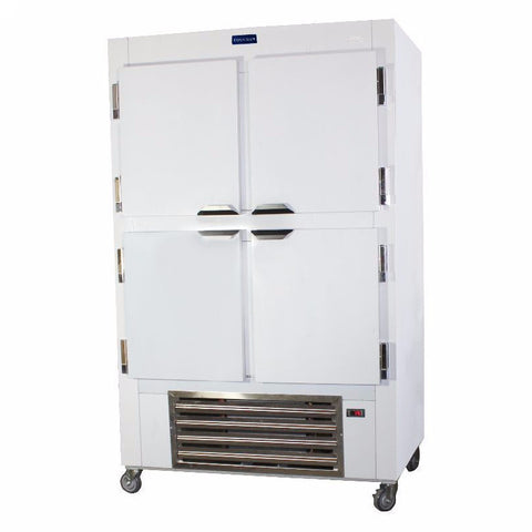 Coolman 48'' Reach In Refrigerator 4 Solid Half Door Cooler Model - Coolman Refrigeration Inc.